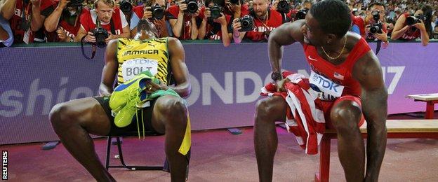 Usain Bolt (left) and Justin Gatlin