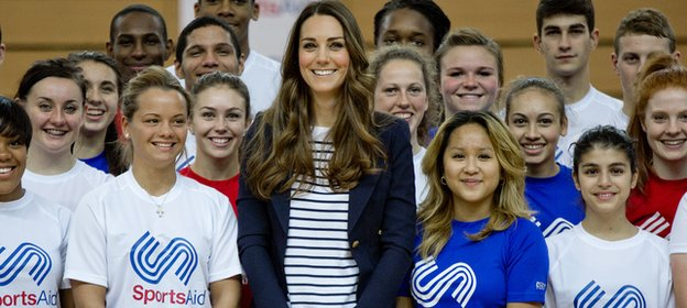 SportsAid patron The Duchess of Cambridge