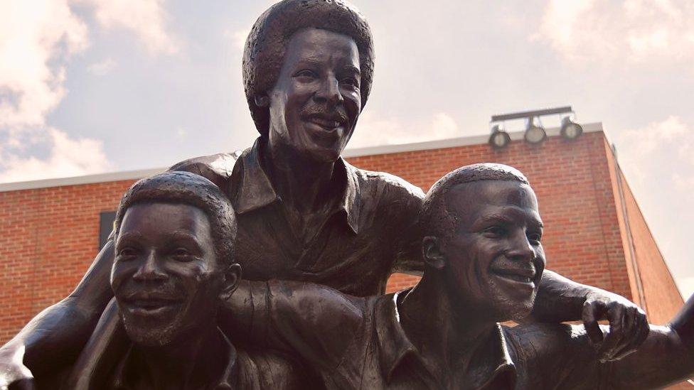Regis, Batson and Cunningham: West Brom legends' statue