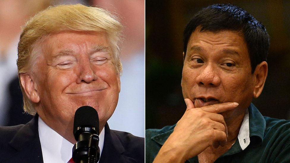Trump invita al presidente filipino Duterte a la Casa Blanca