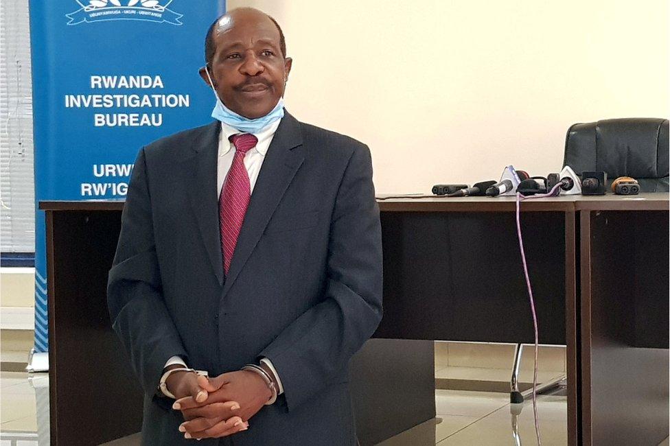 Paul Rusesabagina in custody in Rwanda, 31 August