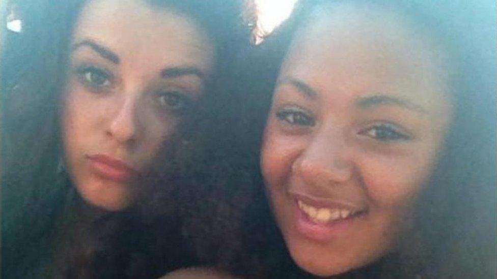 Megan Marchant (left) and Destiny James-Keeling (right)