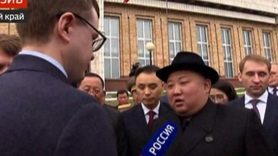 Kim Jong-Un en Russie pour un sommet avec Poutine