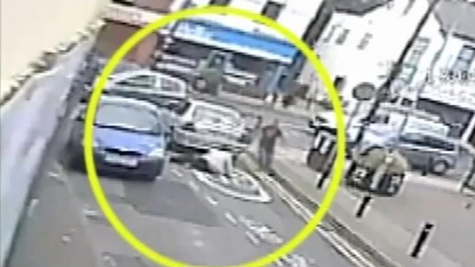 <![CDATA[Manchester hit-and-run: Footage shows woman struck by car]]>
