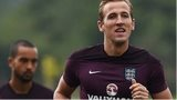 Harry Kane in training for England