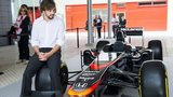 Fernando Alonso and McLaren car