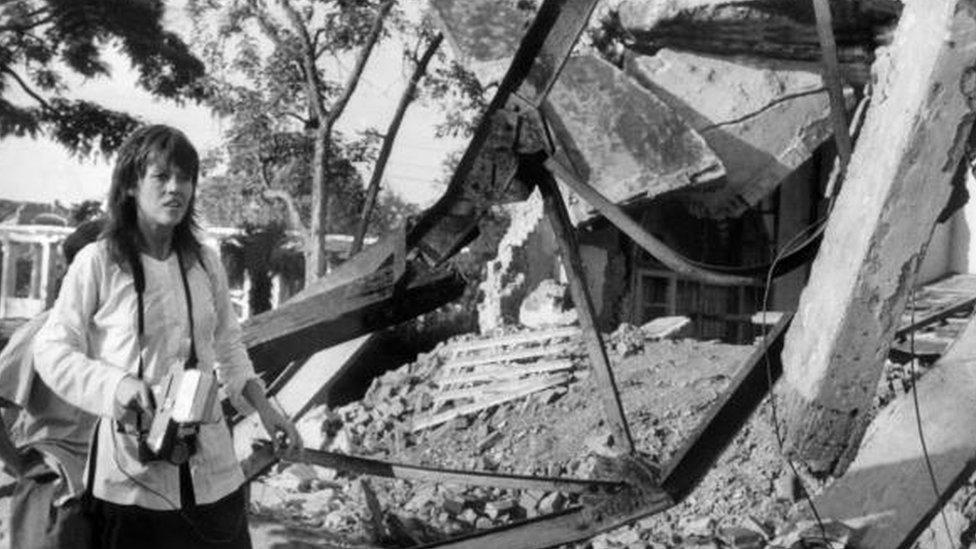 Fonda visitó Vietnam en 1972.
