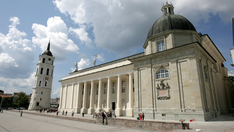 A view of Vilnius cathedral