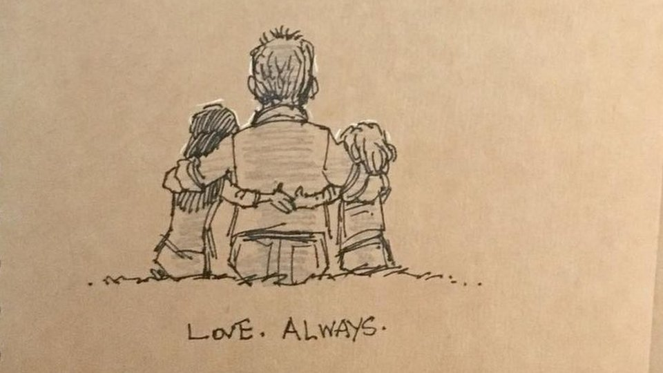 The drawings that tell the story of one family's grief