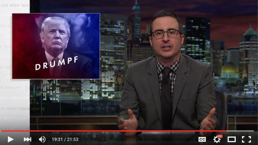 "John Oliver's segment on Donald ""Drumpf"" has over 1 million views"
