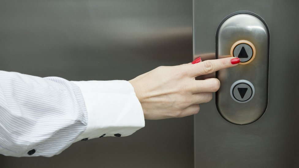 Botones de un ascensor