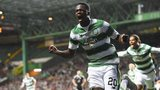 Dedryck Boyata celebrates after scoring for Celtic against Qarabag
