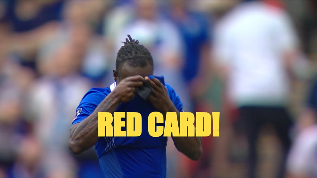Watch: Chelsea's Moses sent off after dive in box