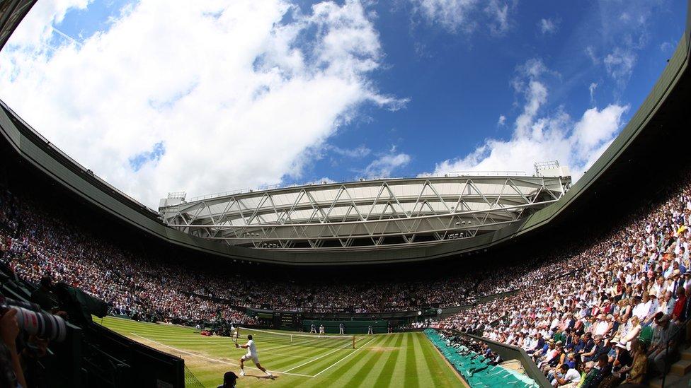 Panorámica de la Cancha Central de Wimbledon