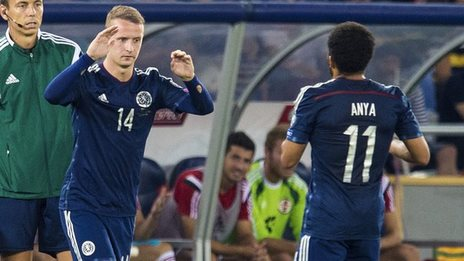 Leigh Griffiths (left) and Ikechi Anya
