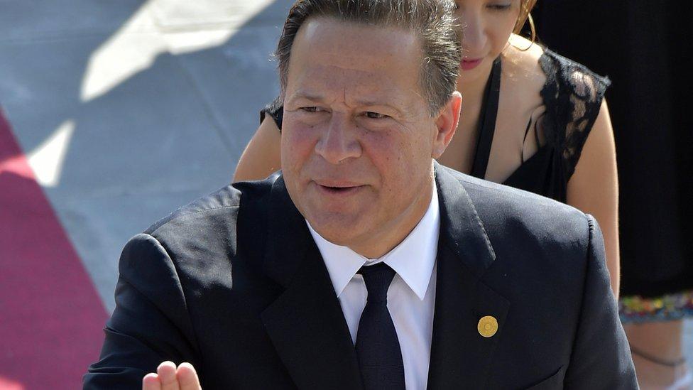 Panama's President Juan Carlos Varela