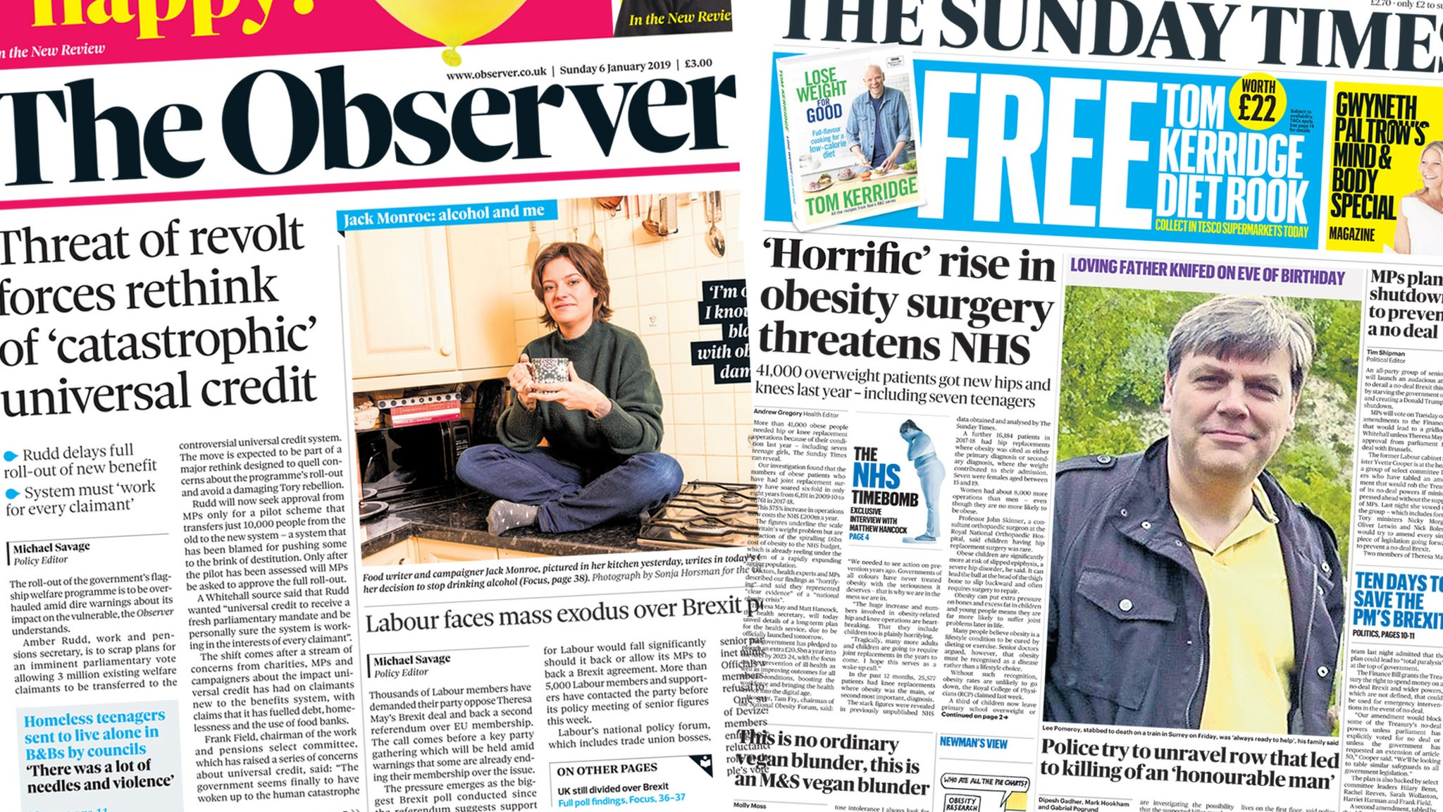 The Papers: Tributes to murdered dad and benefits 'rethink'