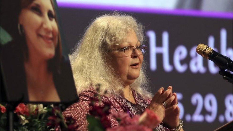 Charlottesville victim's mum rebukes Trump