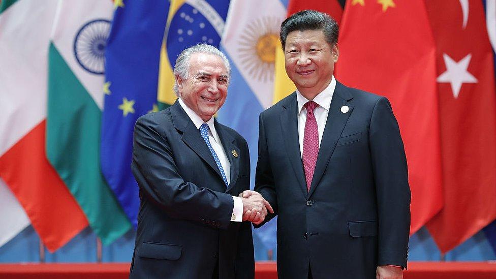 中國國家主席習近平和巴西總統米歇爾·特梅爾