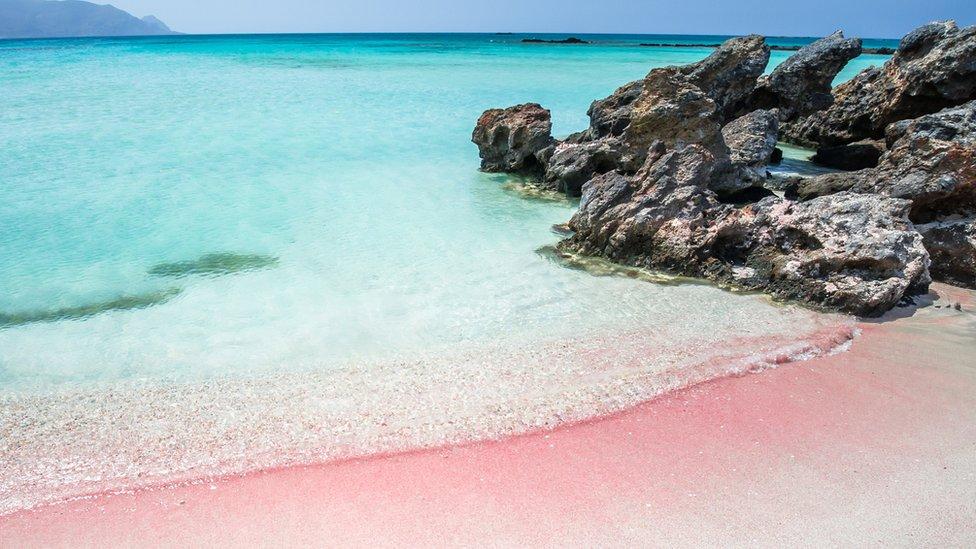 Arena rosada en Creta