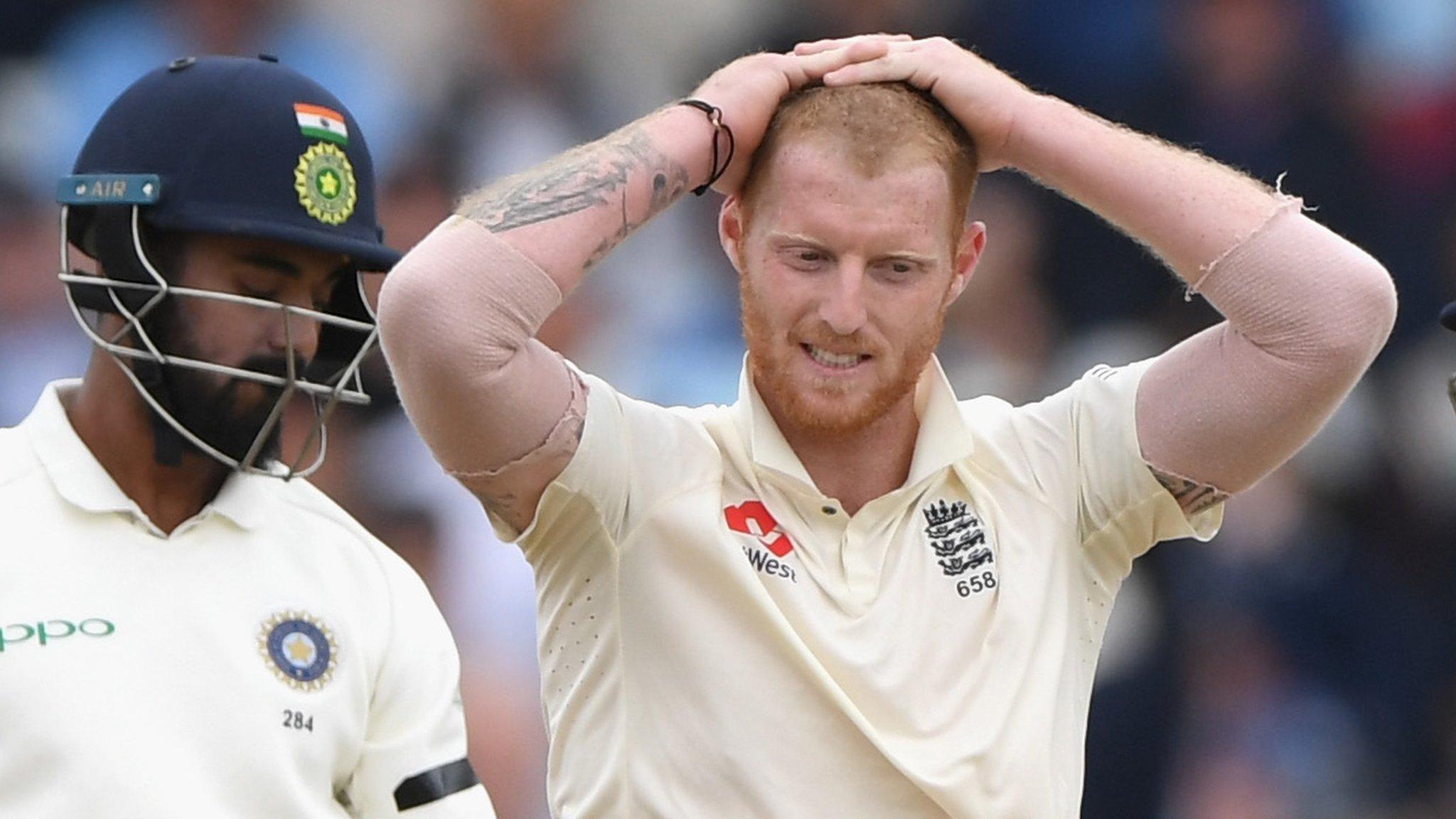 England v India: Ben Stokes makes low-key return to Test cricket
