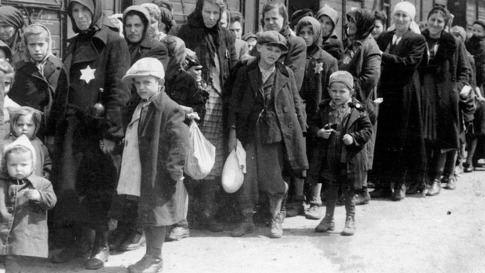 Judíos durante el Holcausto.