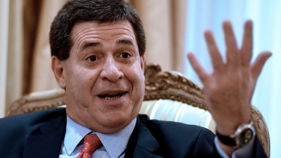 Paraguayan President Horacio Cartes