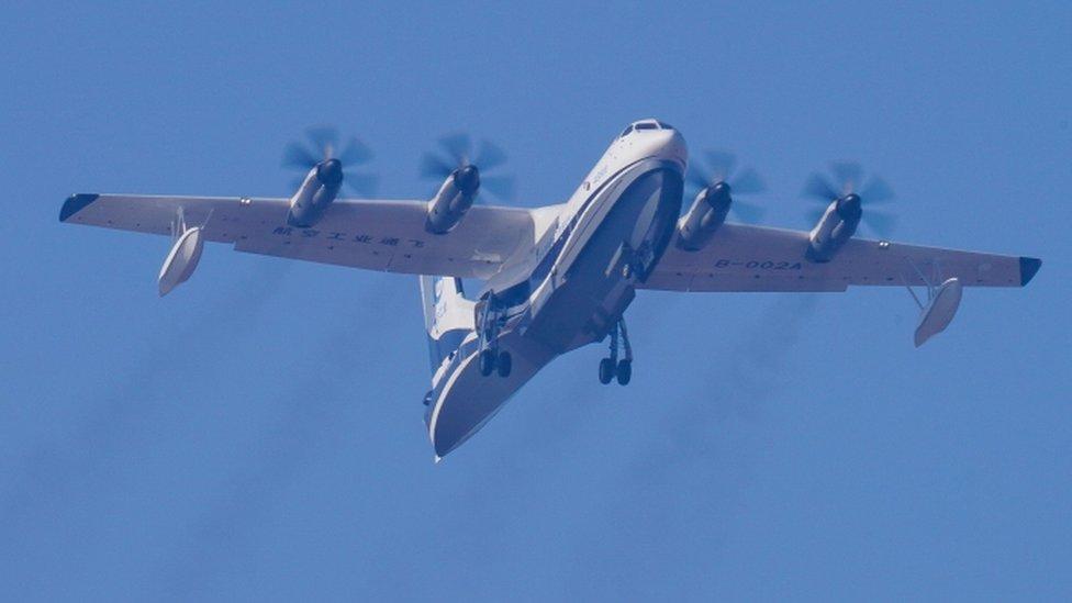 El AG600 tiene aplicaciones militares, especialmente en la disputada zona del Mar del Sur de China.