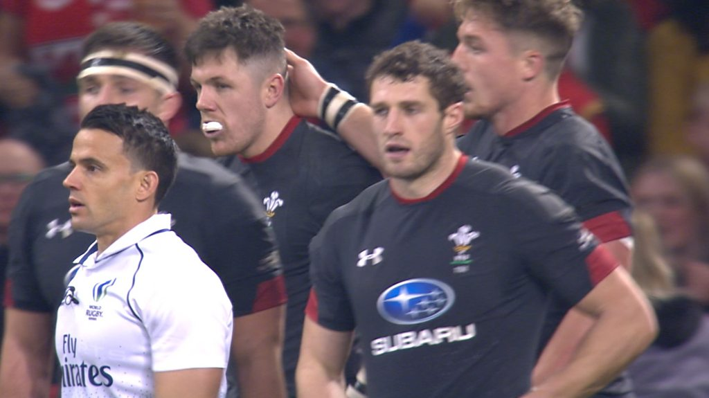 Wales v Tonga: Steff Evans try pushes Wales ahead against Tonga