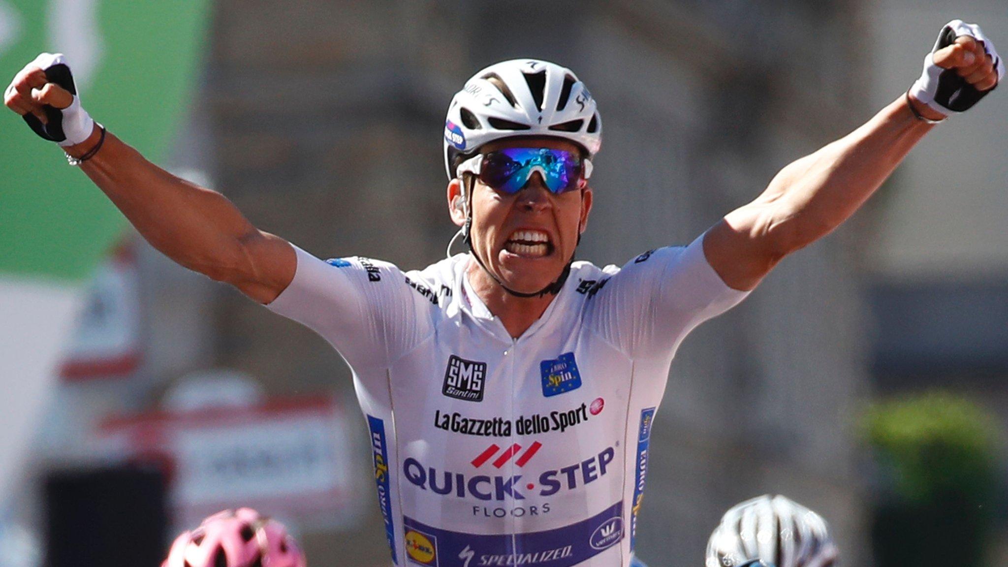 Giro d'Italia 2017: Bob Jungels wins stage 15 as Nairo Quintana takes back six seconds