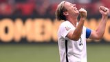 Abby Wambach celebrates