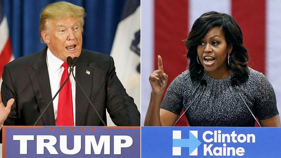 Trump nhắm vào Đệ nhất phu nhân Michelle Obama