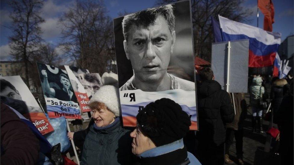 В Москве собираются на марш памяти Немцова
