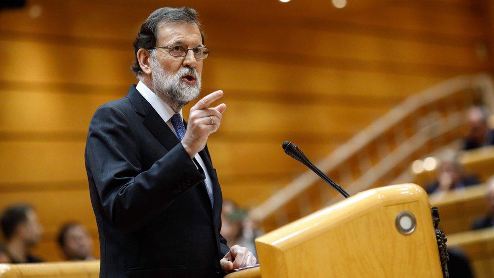 Mariano Rajoy hablando.
