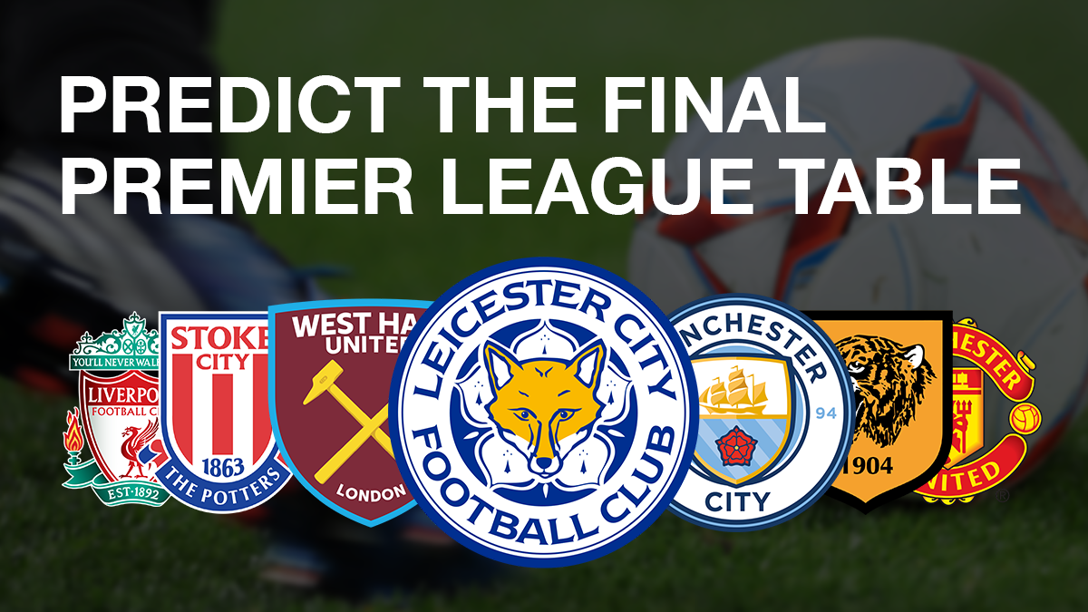 Champions? Relegated? Predict the final Premier League table