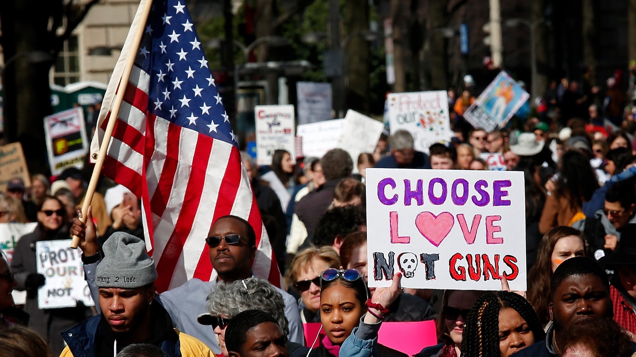 March For Our Lives: Mass rallies on US gun control under way