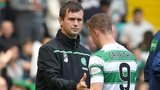 Celtic's Ronny Deila and Leigh Griffiths