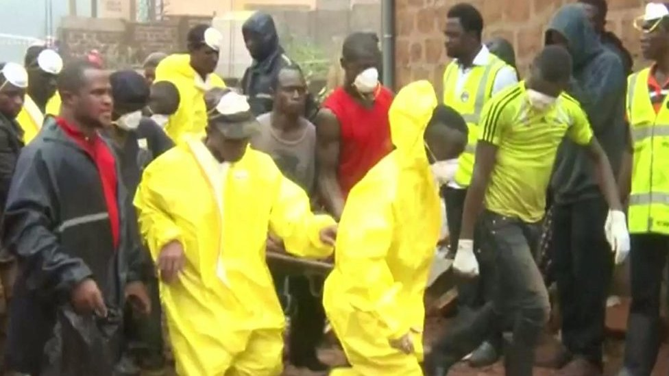 Sierra Leone mudslides: Rescue and recovery operation in Freetown