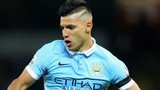 Sergio Aguero in action for Manchester City