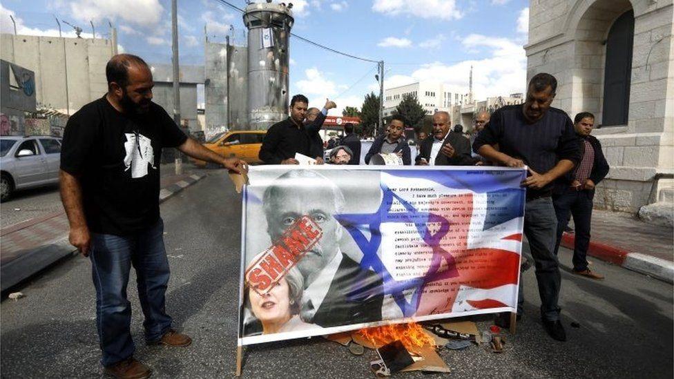 احتجاجات فلسطينية في مئوية الوعد