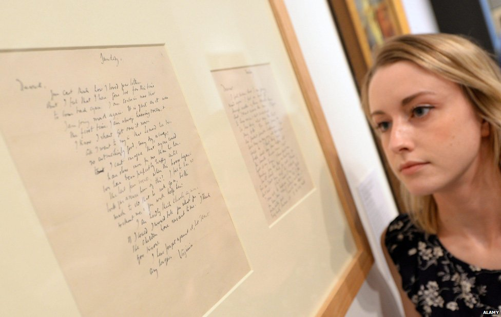 Virginia Woolf's last letters to her sister, Vanessa Bell, at the National Portrait Gallery in 2014