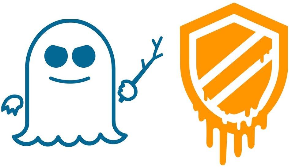 Spectre and Meltdown logos