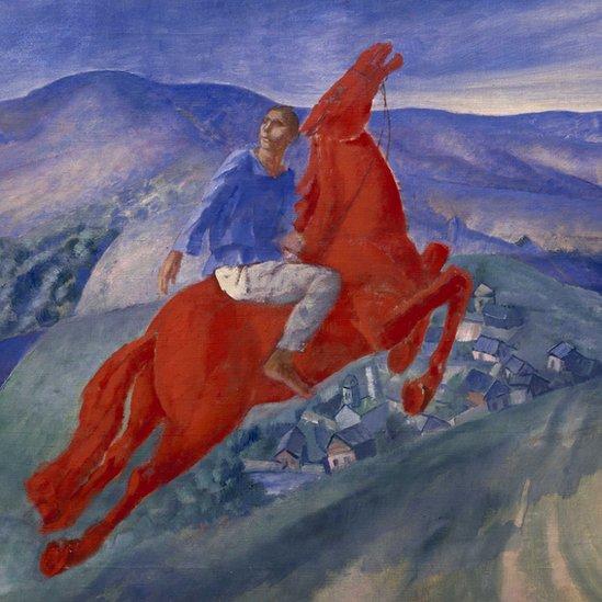 """""""Fantasía"""", de Kuzma Petrov-Vodkin (1925). Óleo sobre tela. Crédito: Royal Academy of Arts"""
