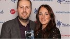Award-winning Ben McGrail and his partner Jenna Shaw after picking up his award
