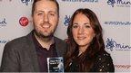 Award-winning Ben McGrail and his partner Jenna Shaw after picking up his award