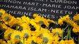 Flowers laid on 7/7 memorial