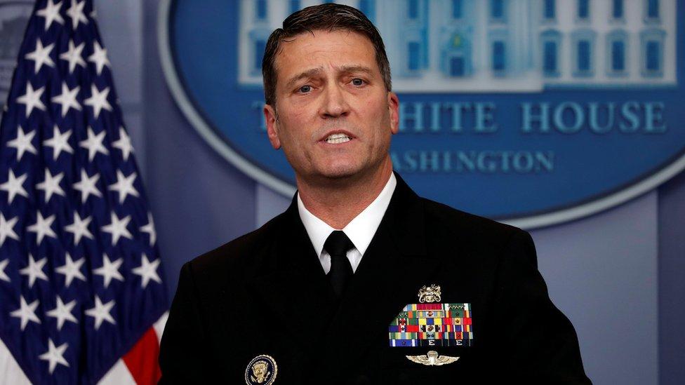 Ronny Jackson, médico de la Casa Blanca.