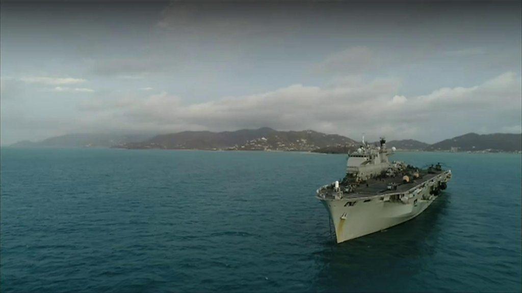 HMS Ocean helps hurricane-hit British Virgin Islands