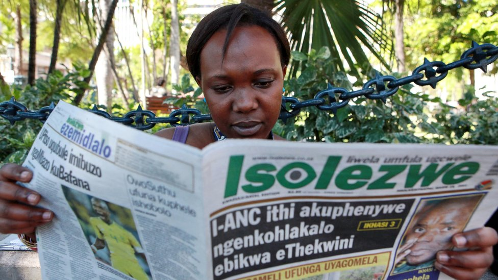 South African newspaper Isolezwe