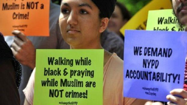 احتجاجات على تصريحات ترامب بشأن المساجد